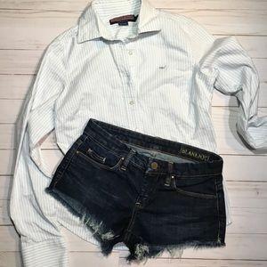 Blank NYC dark wash cut off shorts size 25